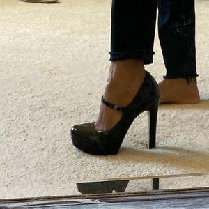 Platform Mary Jane heels